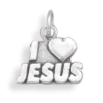 73708 oxidized i love jesus charm thumb200