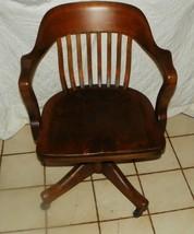 Walnut Banker's Armchair / Office Chair  (AC83) - $499.00