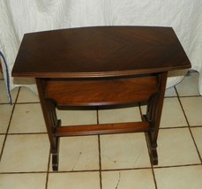 Mahogany Veneer Top End Table / Side Table  (T33) - $299.00