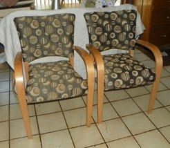 Pair of Retro Birch Armchairs / Chairs  (AC139) - $599.00
