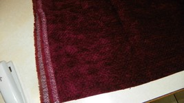 Burgundy Diamond Print Chenille Upholstery Fabric  1 Yard  R406 - $35.95
