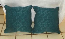Dark Teal Abstract Print Pillows  20 x 20 - $59.95