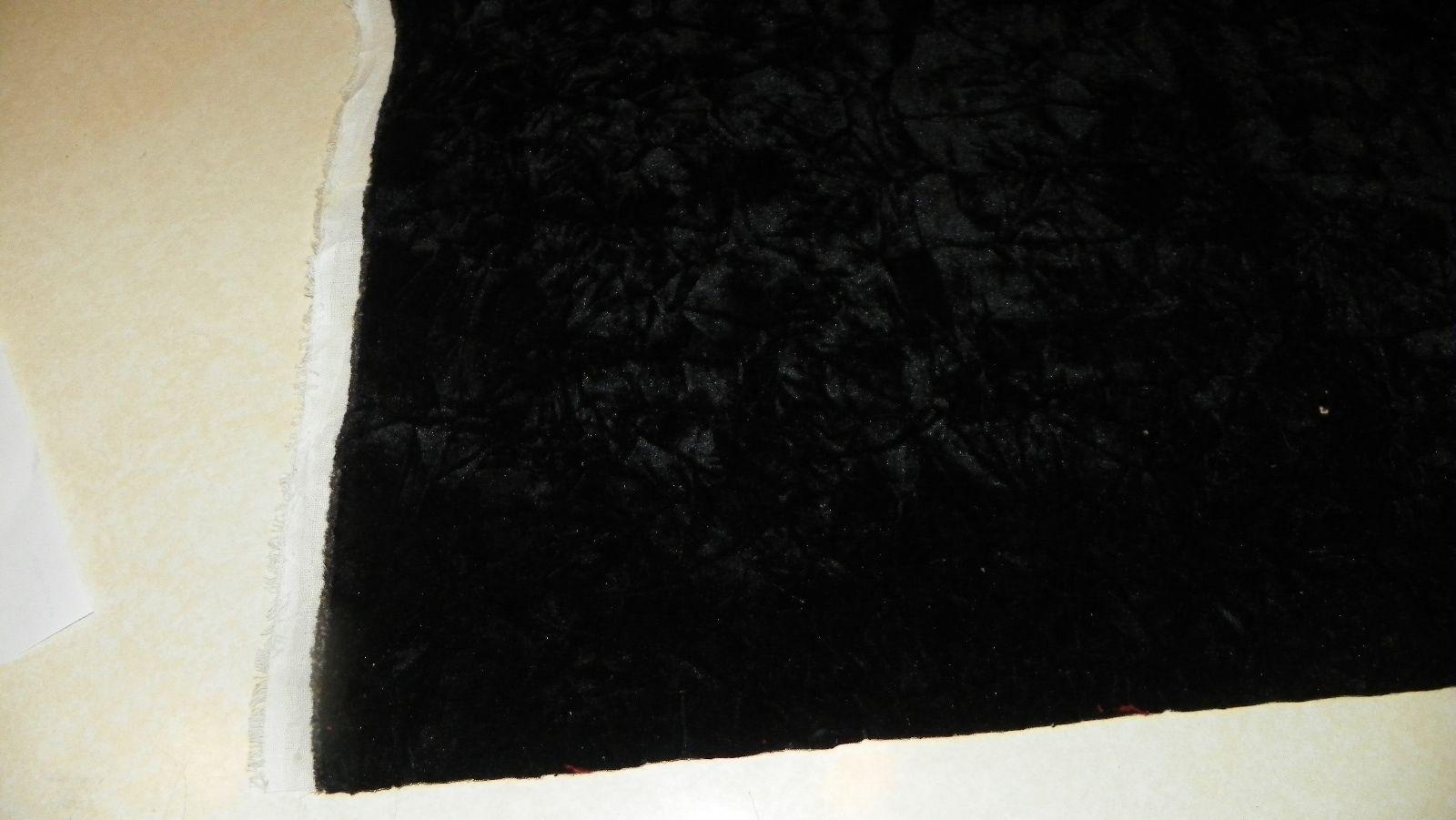 Black Crushed Velvet Upholstery Fabric  F1306