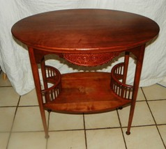 Solid Cherry Carved Oval End Table / Parlor Table  (T181) - $499.00
