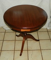 Round Walnut Lamp Table / Parlor Table  (BH-T75) - $399.00