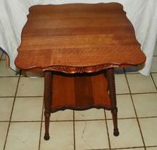 Quartesawn Oak Carved Center Table / Parlor Table  (T212) - $599.00