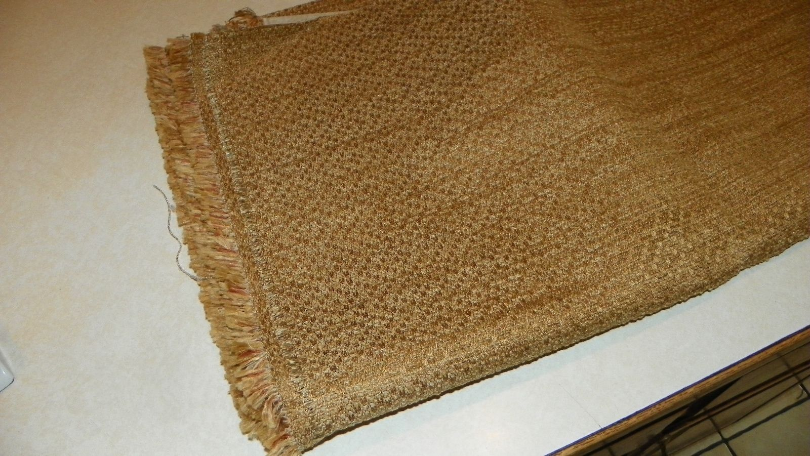 Harvest Gold Slub Nylon Upholstery Fabric  1 Yard  R403