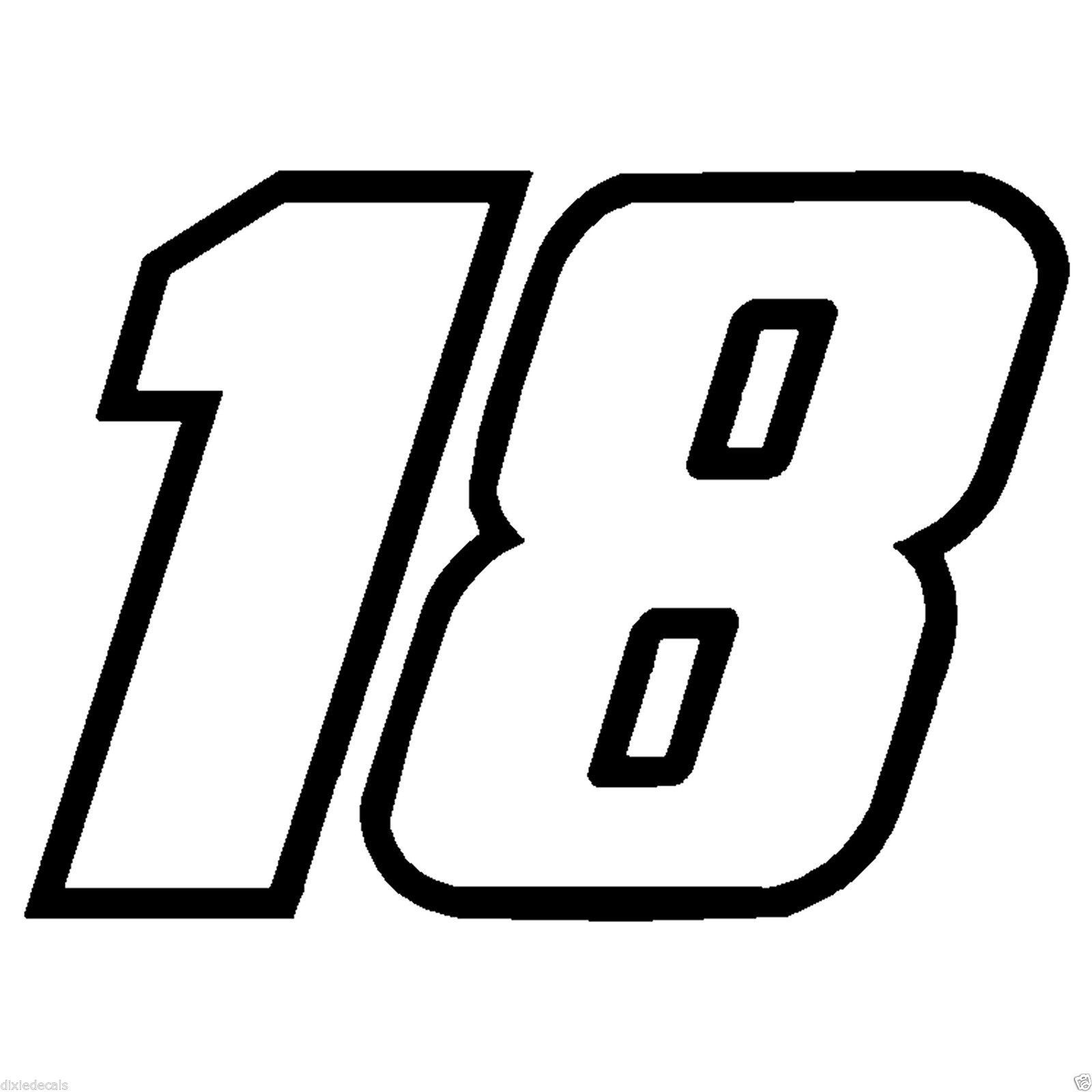 8 Kyle Busch Number 18 Window Decals Vinyl And 50 Similar