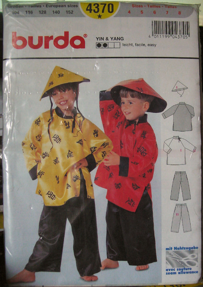 Sewing pattern 4370 childs ethnic chinese and 50 similar items jeuxipadfo Image collections