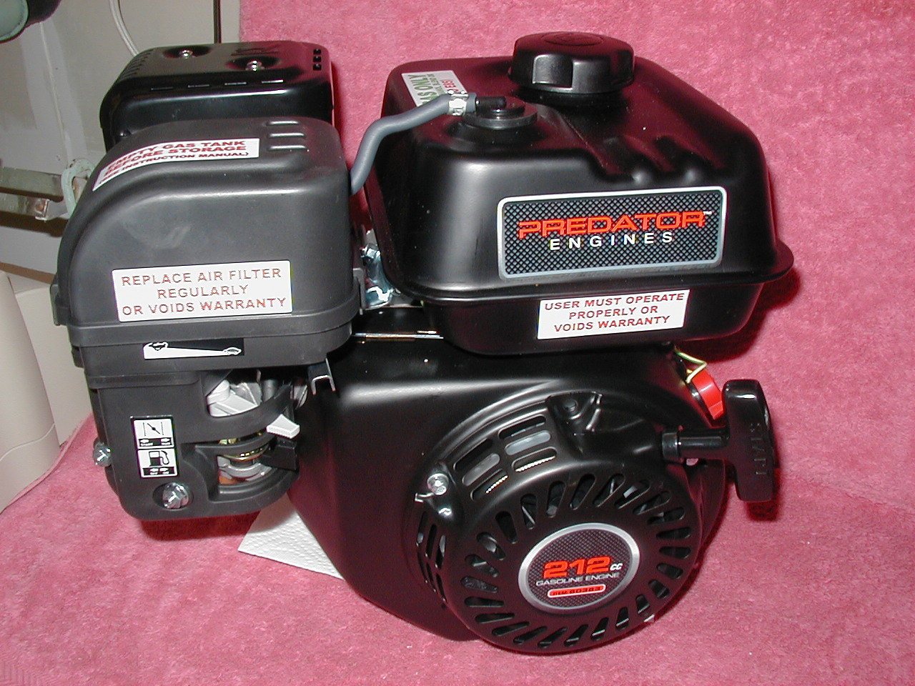 predator 212 cc ohv horizontal shaft gas engine parts
