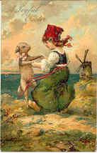 A Joyful Easter  Paul Finkenrath of Berlin Vintage Post Card - $8.00