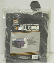 MHP CV2PREM Full Length Polyester Lined Vinyl Grill Cover Color Black image 1