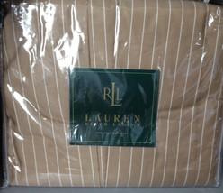 NEW RALPH LAUREN 52ND STREET PINSTRIPE KING BEDSKIRT 1ST QUA - $31.67