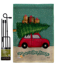 It's Winter Time Burlap - Impressions Decorative Metal Garden Pole Flag ... - $33.97