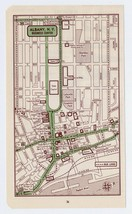 1951 ORIGINAL VINTAGE MAP OF ALBANY NEW YORK DOWNTOWN BUSINESS CENTER - $13.86