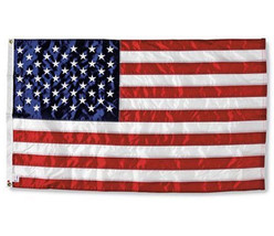NEW IIT 3x5 50,000 STITCH EMBROIDERED NYLON US USA AMERICAN FLAG Stars S... - $18.89