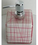 DKNY PINK/CORAL Resin Bath Pump Dispenser Home Decor - $11.00