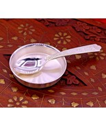 999 pure silver utensils, silver small tray with spoon, baby bowl set in... - $59.69