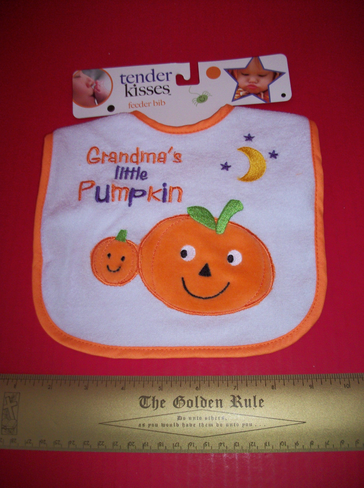 Primary image for Fashion Holiday Baby Clothes Tender Kisses Grandma Little Pumpkin Halloween Bib