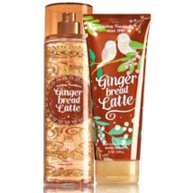 Bath & Body Works Gingerbread Latte Body Cream +  Fine Fragrance Mist Du... - $27.39