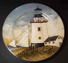 "By the Sea Lighthouse salad plate David Carter Brown Oneida 8.25"" #1 - $8.75"