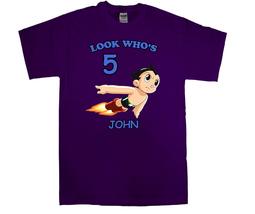 Astro Boy Personalized Purple Birthday Shirt - $16.99+