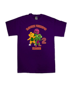 Barney and Friends Personalized Purple Birthday Shirt - $16.99+