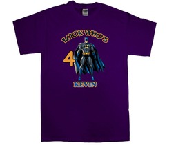 Batman Personalized Purple Birthday Shirt - $16.99+