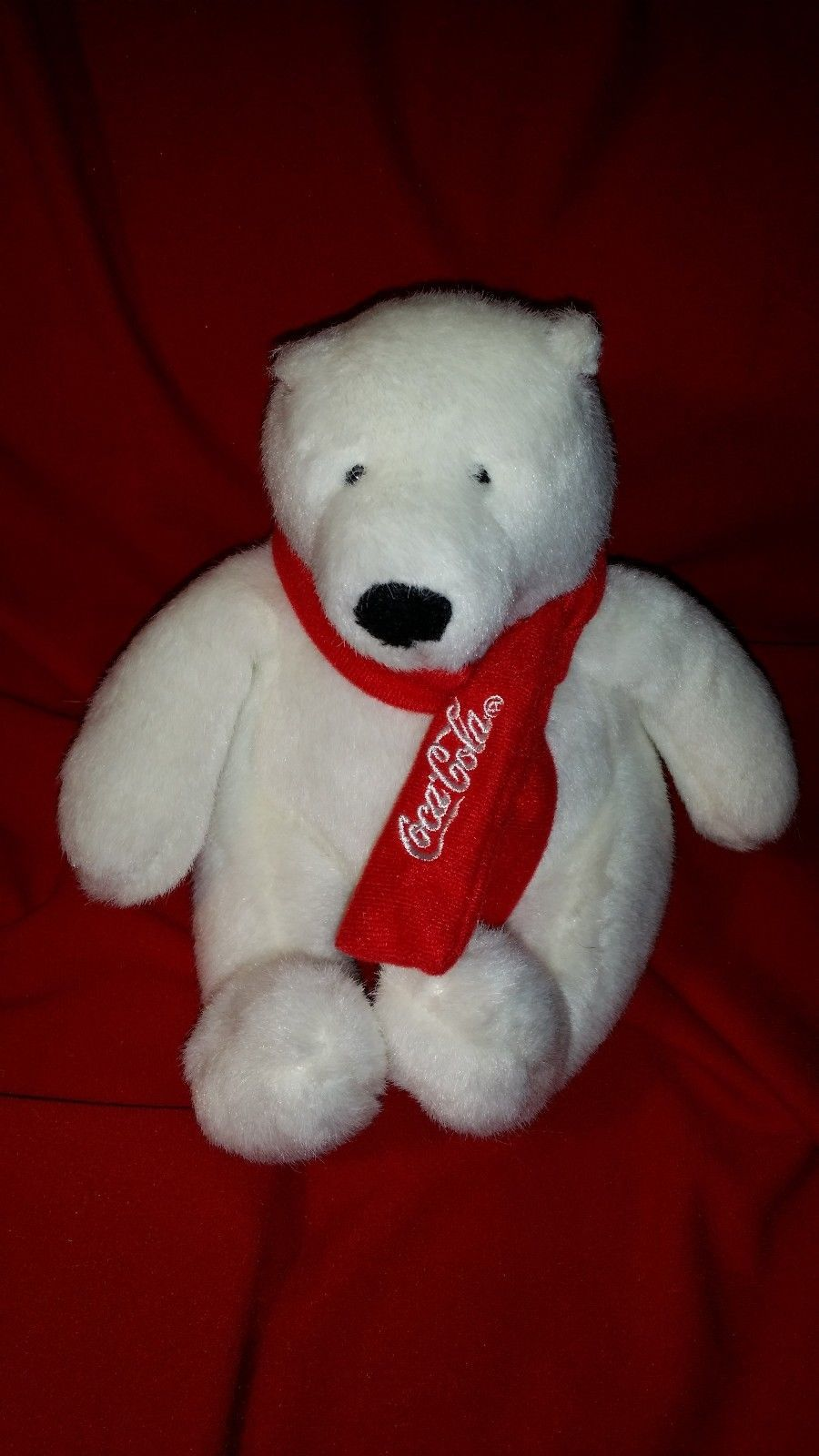 Polar Bear Toys : Lost found coca cola polar bear plush toy stuffed