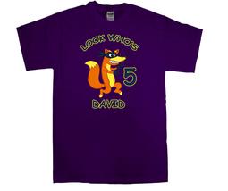 Dora the Explorer Swiper Personalized Purple Birthday Shirt - $16.99+