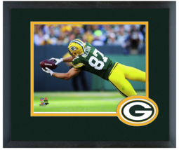 Jordy Nelson 2014 Green Bay Packers - 11 x 14 Team Logo Matted/Framed Photo - $43.55