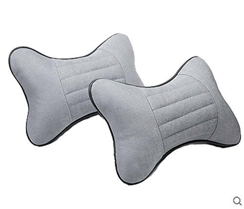 PANDA SUPERSTORE Auto Head Neck Pillow Gray Pillows Neck Pillow Car Pillows Head