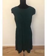 ASOS Women's Dress SIze 12 Green Cap Sleeve Pleated Bodice - $22.76