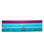 NEW Nike Girl`s Assorted All Sports Headbands 4 Pack Multi-Color #19 - $20.00
