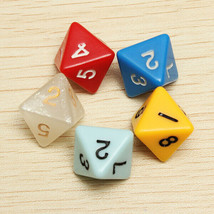 ~NEW~ 5PCS/set Number Eight-sided Dice Board Game Dice Counter  - $5.48