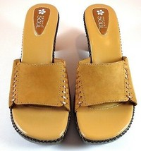 Natural Soul by Naturalizer Shoes Womens Suede Heel Sandals Size 8 M - $38.56