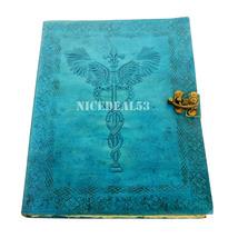 Vintage Leather Journal Leather Diary Notebook - FLEUR DE LIS & ROD of C... - $44.99