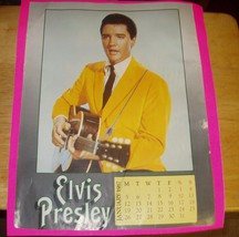 Vintage Elvis Presley Photo on January 1987 Calendar Page for Framing Es... - $9.49