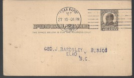 Vintage 1 Cent Stamp Postcard Hand Cancelled Railway Conductors Receipt ... - $3.79