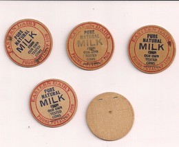 Vintage Eastern Dairy Puyallup Wa Milk Bottle Caps 1969 Lot of 5 Estate - $8.54