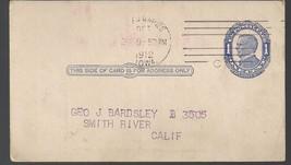 Vintage Postal Postcard 1 Cent Stamp  Hand Canc... - $3.79