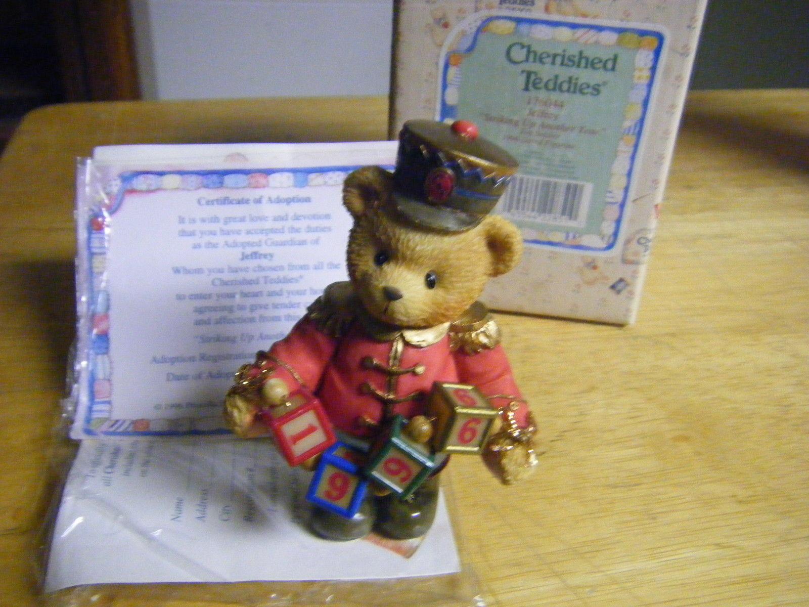 Toy Soldier Bear Figurine Jeffrey Cherished Teddies Enesco 1996 P Hillman MIB  - $5.69