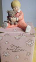 Miniature Figurine Daze Mortensen Artist Boy Holding Teddy Bear Clay MIB... - $5.69