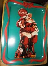 Coca Cola Tray Santa with Bunny 1990 Greetings from Coca Cola - Estate - $12.34