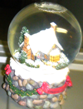 Musical Snow Globe House & Trees Winter Scene f... - $18.99