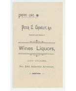 Crowley Boston antique advertising price list wines liquors 1900 beer ep... - $9.00