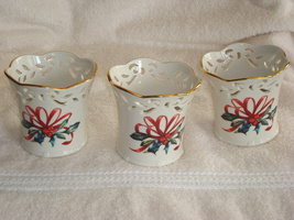 "Lenox - ""Winter Greetings"" Votive Candle Holders - $30.00"