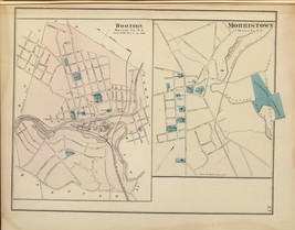1872 antique map poster Genealogy Boonton Morristown NEW JERSEY 011 - $14.85
