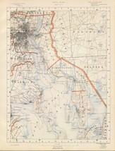 1891 antique map poster Geologocal  sheet 3 topographic RHODE ISLAND 006 - $14.85