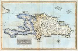 1823 FIELDING LUCAS map atlas  poster Haiti Saint Domingo Dominican Repu... - $14.85